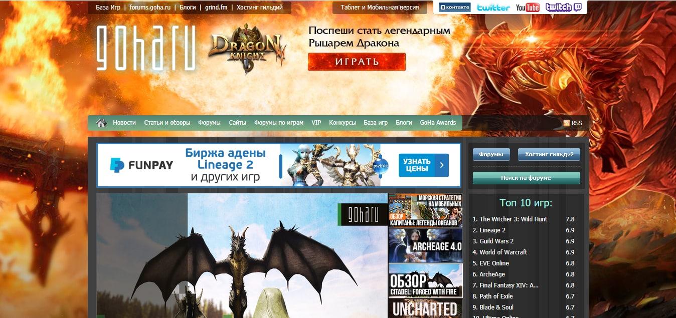 обзор игровые сайты