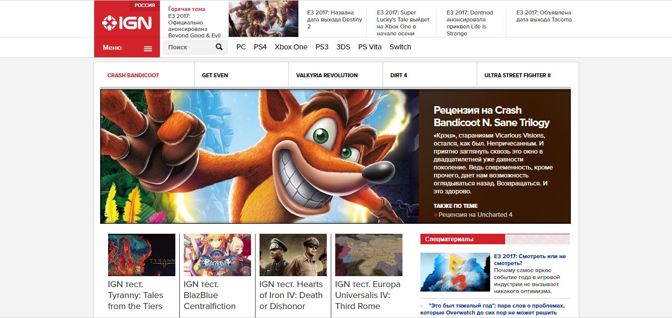 игровые сайты с обзорами